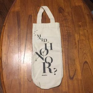 Bhldn Canvas Wine Bag Maid of Honor Gift